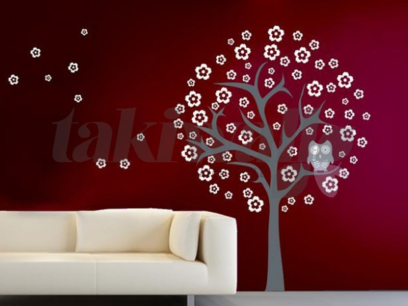 dubai sticker trees floral wall decal shop