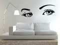 dubai wall decal sticker print eyes design