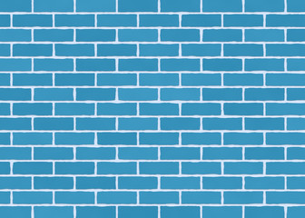 Dubai Print Sticker Blue Brick Wall DUBAI SHOP