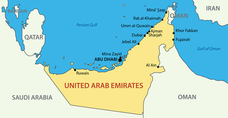 United Arab  map