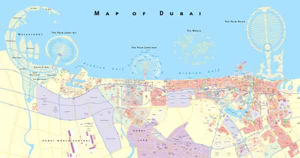 Map Dubai Real estate