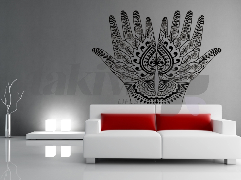 Dubai Print Sticker Henna Tribal Ethnic DUBAI SHOP - Wall decals dubai
