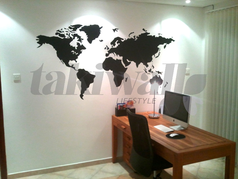 Dubai Print Sticker World Map Modern DUBAI SHOP - Wall decals dubai