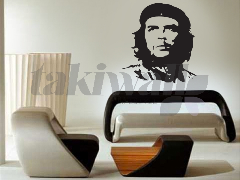 Famous by his freedom ideology fidel castro was always running for its silence now the wall sticker decal wall paper form the che