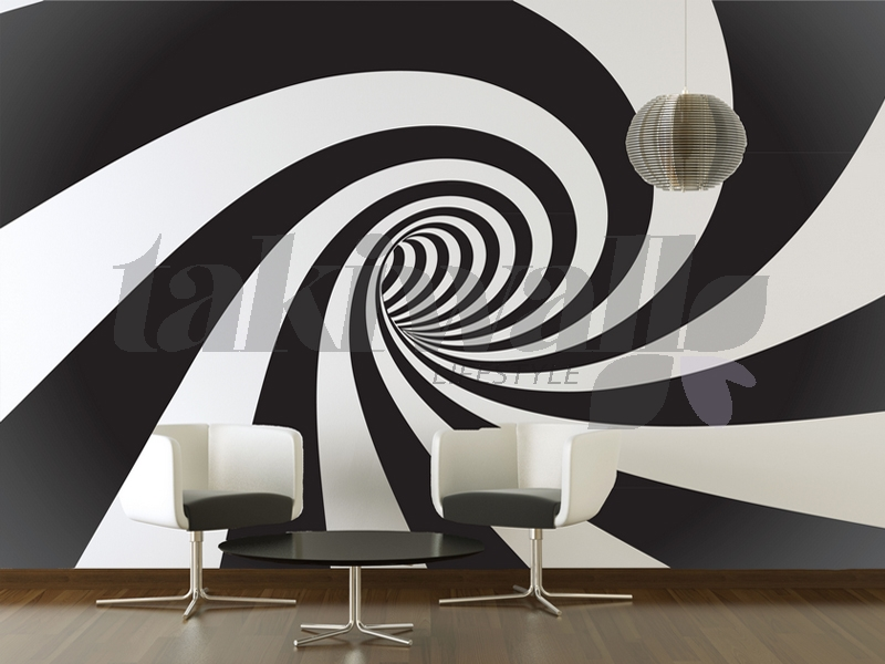 Dubai print sticker Spiral Abstract DUBAI SHOP