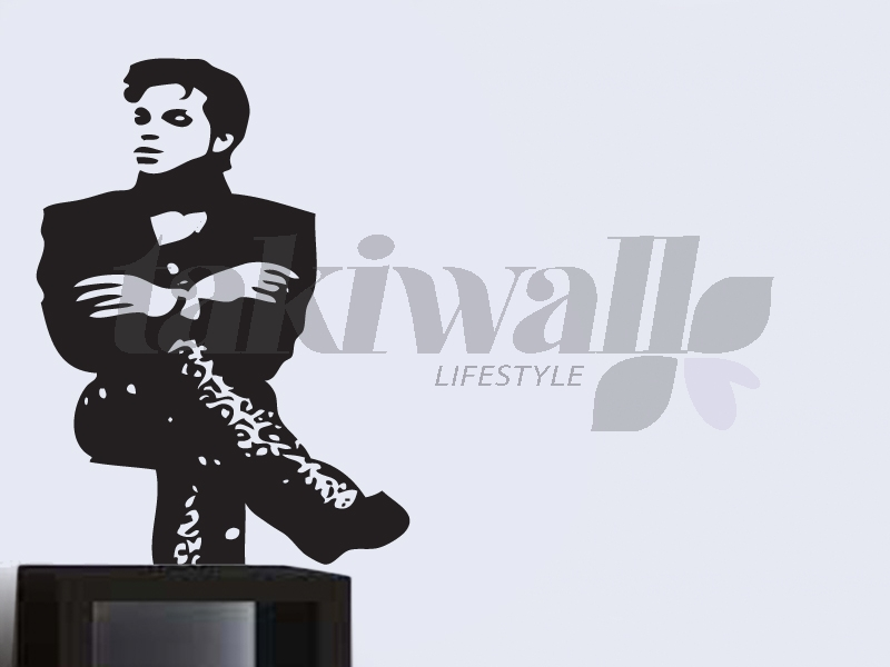 Prince wall decal sticker is well presented on this picture we though that a full black color is excellent because it look like shadow